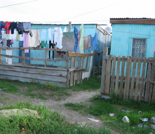 Living conditions for workers in the township of Khayelitsha outside Capetown