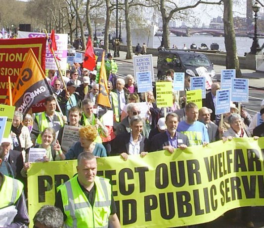 Last April's mass march calling for the defence of the Welfare State and all public services