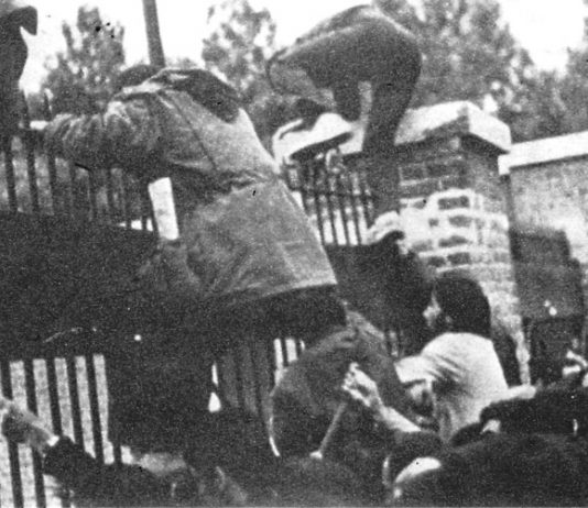 Iranian students storm the US embassy in 1979