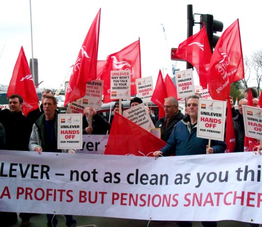 Unilever workers determined to defend their final salary pensions