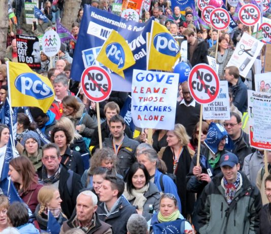 Teachers on the march last November determined to defend their pensions