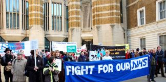 A 200-strong crowd waited outside Richmond House to greet the 'Bevan's Run' consultants