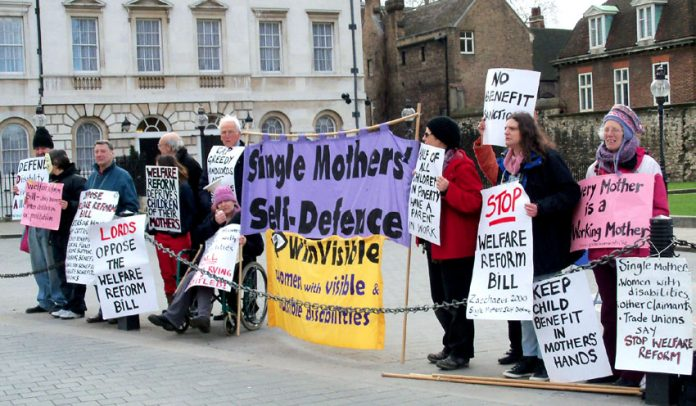 Campaigners outside the House of Lords yesterday
