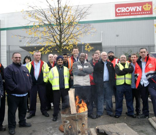 Royal Mail workers out on strike against privatisation at East London Mail Centre