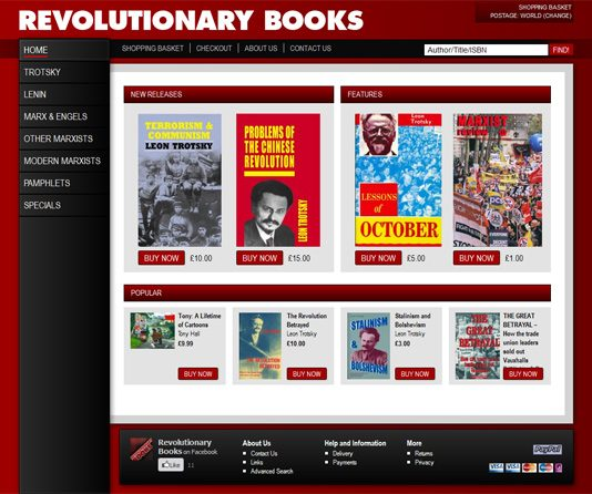 REVOLUTIONARY BOOKS – New website launched