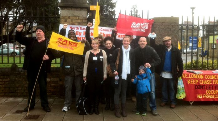 An enthusiastic response from patients, staff and passers-by to yesterday's picket of Chase Farm Hospital