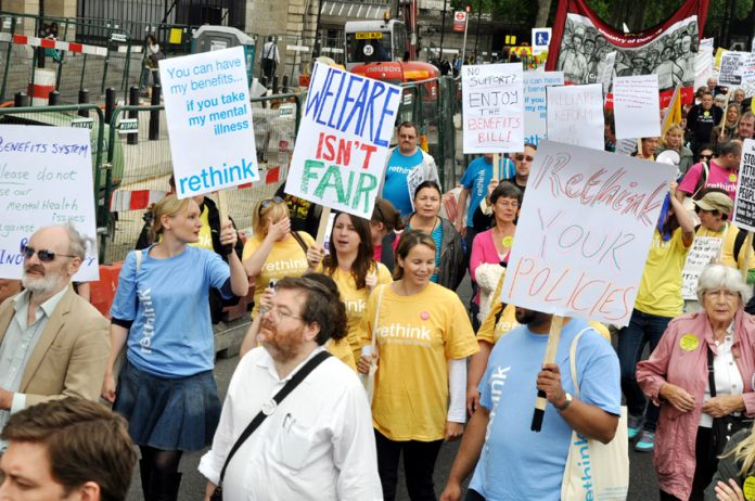 Last May's march in London against benefit cuts for the disabled