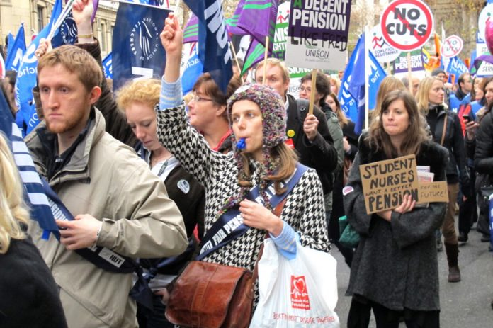 Last November's massive pensions strike – millions are to starve and freeze for Cameron and Osborne's 'free and fair' markets