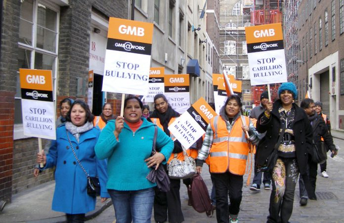 After a successful lobby Swindon Hospital workers marched triumphant to the GMB offices