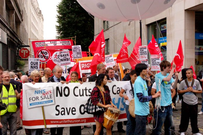 One of last year's trade union demonstrations in defence of the NHS