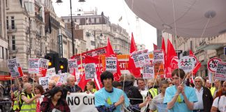 Young workers lead the way at the Unite to 'Defend the NHS' march last year