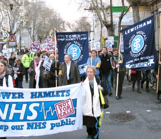 The march organised by the BMA to defend the NHS earlier this month