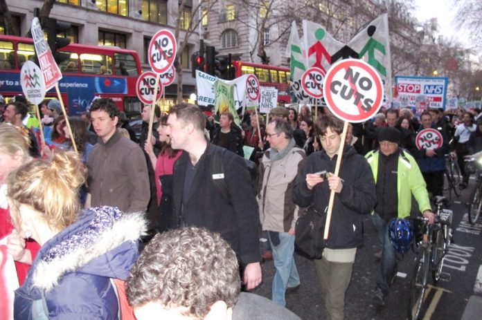 BMA demonstration on March 8 against the NHS Health Bill just before it became law