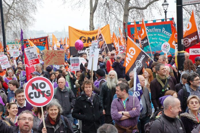 Workers turned out in their hundreds of thousands on March 26 2011. They are determined to defend their jobs, pay, conditions and employment rights