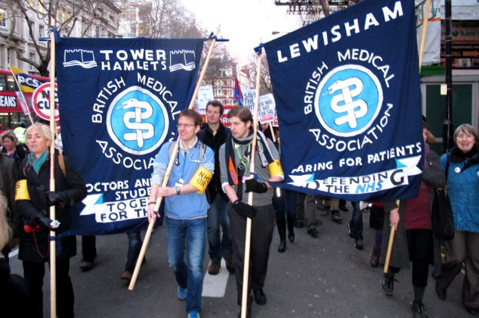 The BMA took to the streets  with its banners in March this year, now its members are coming out on strike