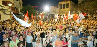 A Syriza mass demonstration in Athens – the mass movement has emerged suddenly out of the crisis and is posed with becoming the government – its leader Tsipras (below) is however opposed to the Greek working class taking power