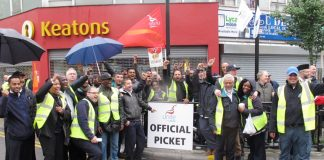 'This is the time we start fighting', said confident and determined pickets outside Hackney garage yesterday morning