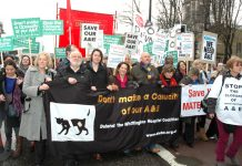 Thousands demonstrated against the threat to close the A&E at Whittington hospital in north London in 2010 – Four A&Es in west London are facing the axe