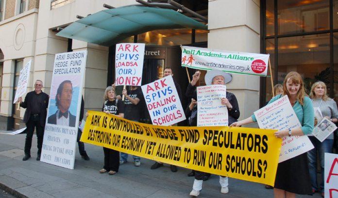 Anti-ARK Academy protest in September 2008
