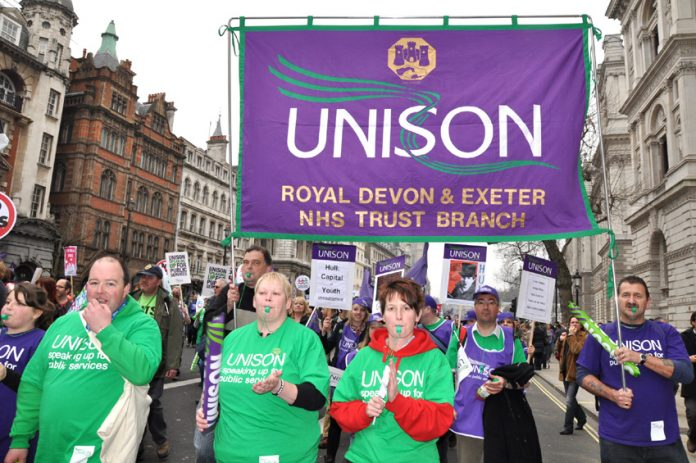 Unison members at the Royal Devon & Exeter NHS trust face pay cuts if their national agreement is broken
