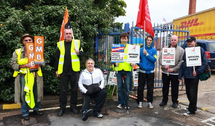 Norwich Remploy picket line urged the unions to get together so as to have the force to deal with the government