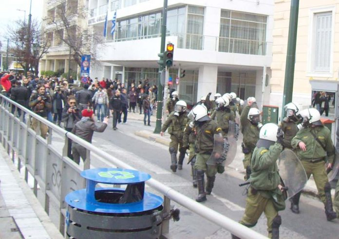 Clashes between Greek workers and the capitalist state are taking place around the clock every day as workers defend their rights