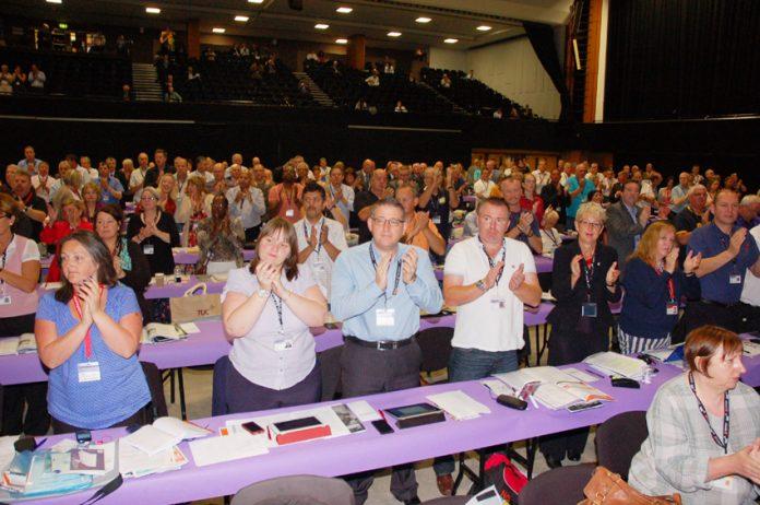 Delegates at the TUC Congress 2012 in Brighton