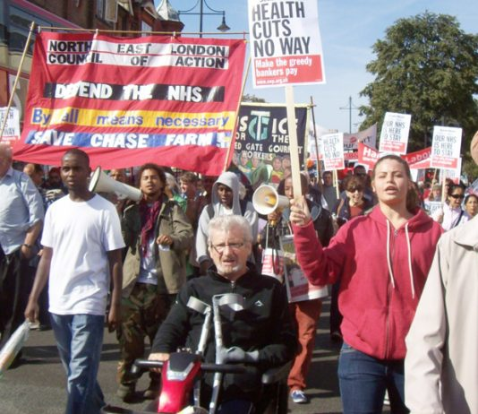 Ten thousand marched through Ealing to defend their District General Hospital and many said they were prepared to occupy to keep the hospital open