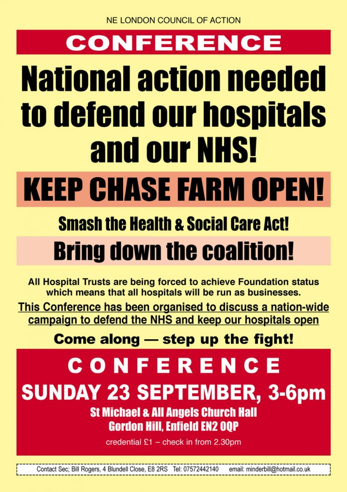 Conference to defend the NHS