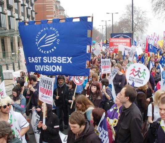 Teaching unions marching – in the front line of defending national pay agreements