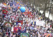 The 500,000-strong TUC demonstration on March 28 last year – the march called for October 20 this year is set to be even bigger