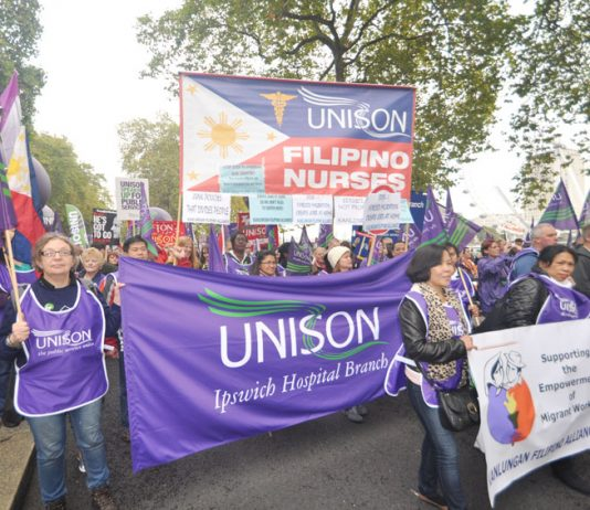 Leeds Unison determined to defend their services on the march last Saturday