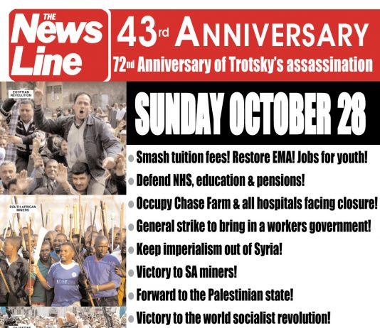 News Line 43rd Anniversary Rally – This Sunday