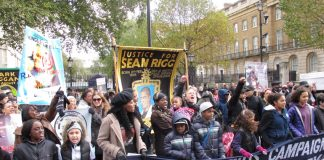 Passions were high at the rally opposite Downing Street on Saturday
