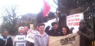 Yesterday's picket at Chase Farm – is having a big impact on the struggle to keep the hospital open