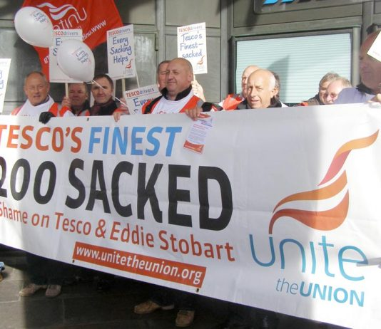 Doncaster Tesco drivers taking strike action to defend their jobs