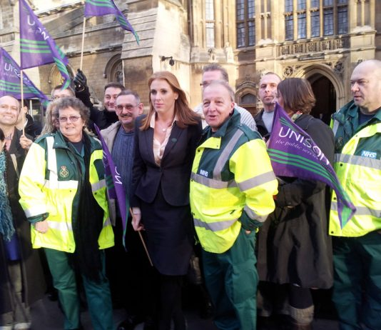 Manchester ambulance workers came to London yesterday determined to defeat plans to privatise the service