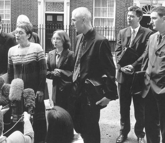 The Finucane family outside 10 Downing Street in 2000 when they saw Labour Prime Minister Blair and demanded a public enquiry into the murder of Pat Finucane