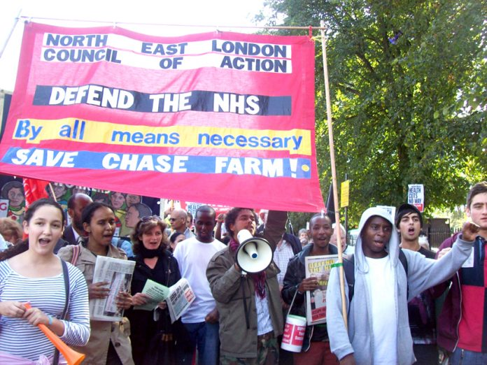 The North East London Council of Action on the the recent march to defend Ealing Hospital and to stop the NHS from being privatised