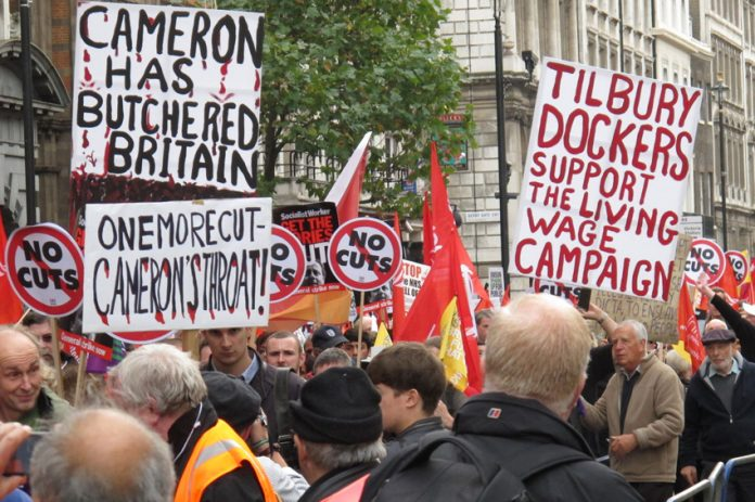 Cameron has earned intense hostility of workers with his savage cuts policy