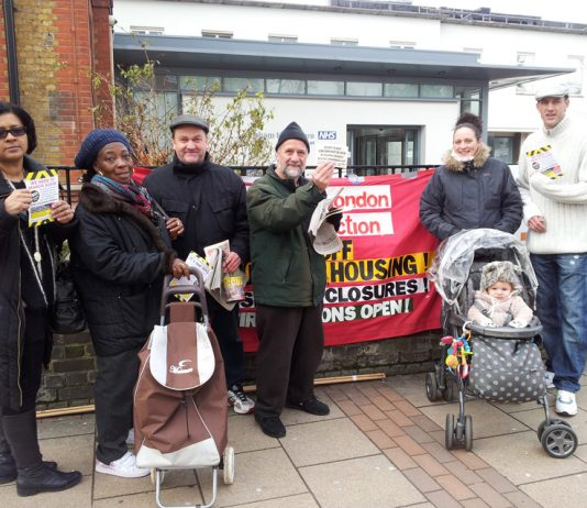 Wednesday lunchtime pickets determined to stop the closure of Lewisham Hospital