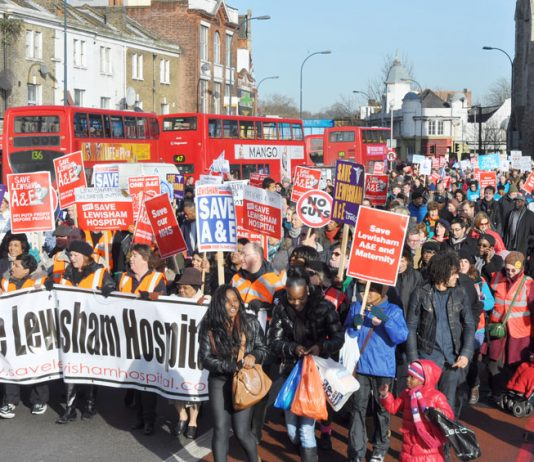 25,000 people marched in Lewisham on January 26 to save their hospital – they will be very angry at Hunt's remarks that savage cuts will save 100 lives