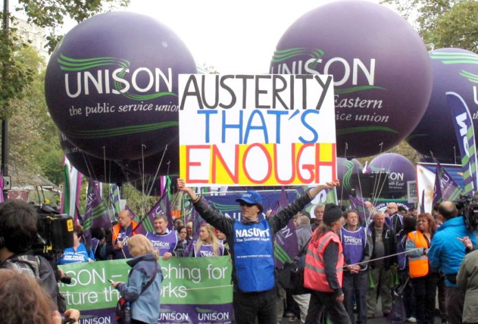 Last October's TUC demonstration against the Coalition's austerity cuts