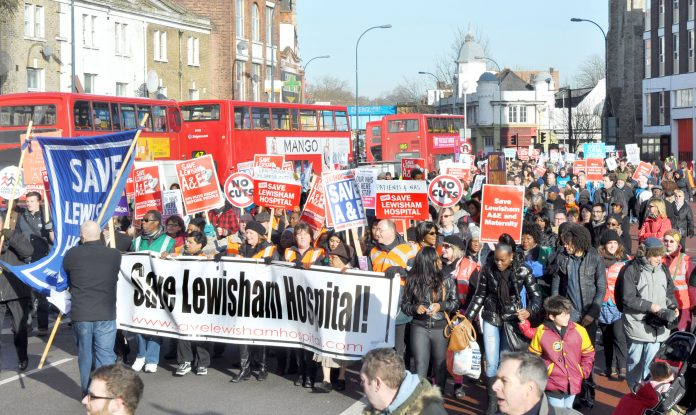 Last month's march to keep Lewisham hospital open