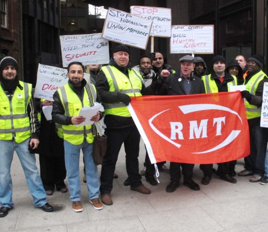 Travel Safe staff on strike against harassment and bullying of union members