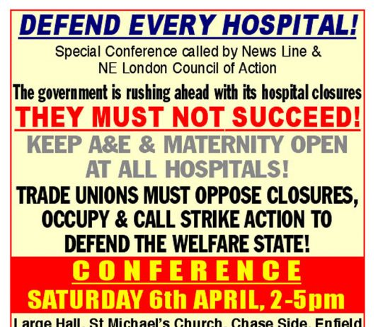 Defend Every Hospital Conference: 23 April