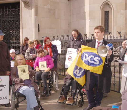 Campaigners against the scrapping of the Independent Living Fund lobby the High Court