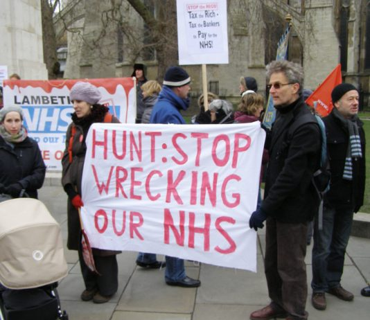NHS campaigners from around the country lobbied Parliament against privatisation and cuts