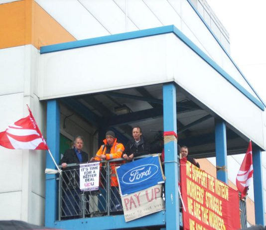 Visteon workers occupy their factory in Enfield to defend their pensions