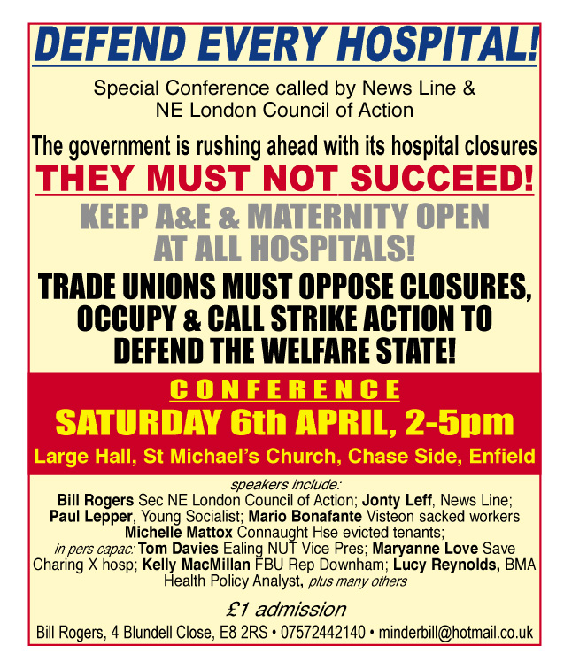 TODAY – April 6 – Defend every hospital  conference
